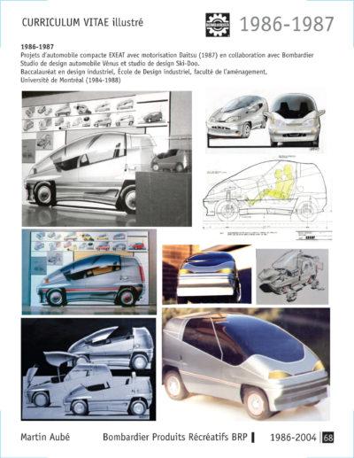 Bombardier - Projet Vénus - Martin Aubé stagiaire concept EXEAT UdeM École de design industriel